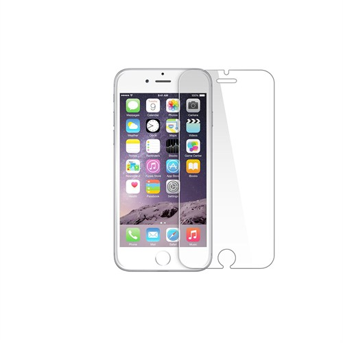 """Okmore Apple İphone 6 / 6S Plus (5.5"""") Temperli Kırılmaz Cam Ekran 2İn1 0.33 2.5D"""