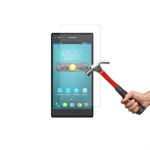 Okmore Turkcell T50 Kırılmaz Cam Ekran 0.33 2.5D