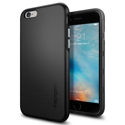 Spigen Sgp iPhone 6S Kılıf Thin Fit Hybrid Black - SGP11730