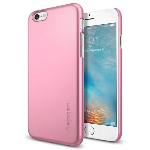 Spigen Apple iPhone 6S Kılıf Thin Fit Ultra İnce Metal Pink - 11766