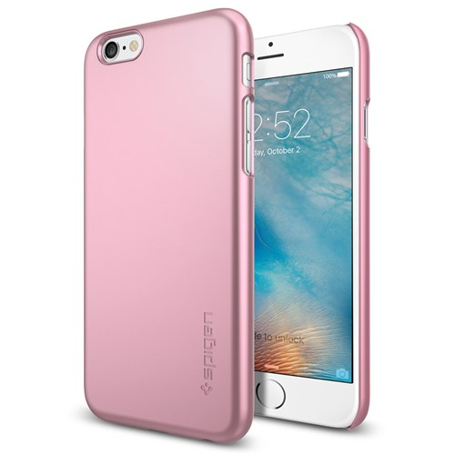 Spigen Sgp iPhone 6S Kılıf Thin Fit Ultra İnce Metallic Rose - SGP11787
