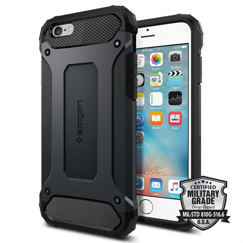 Spigen Sgp iPhone 6S Kılıf Tough Armor Tech Metal Slate - SGP11743