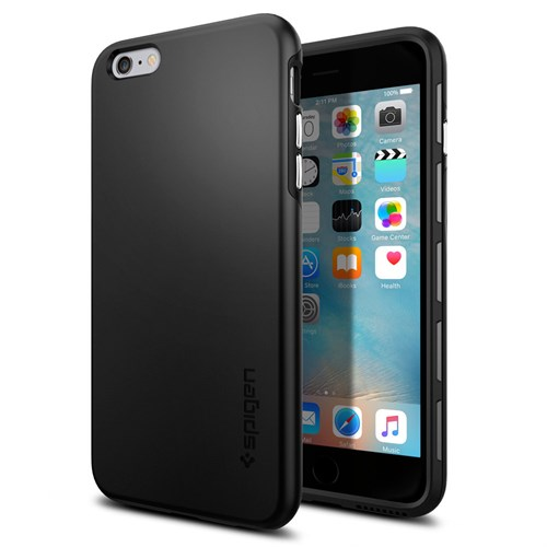 Spigen Apple iPhone 6S Plus Kılıf Thin Fit Hybrid Black - 11732