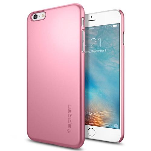 Spigen Apple iPhone 6S Plus Kılıf Thin Fit Ultra İnce Metal Pink - 11765
