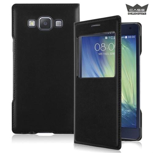 CaseCrown Samsung Galaxy A5 Gizli Mıknatıslı Pencereli Kılıf Siyah