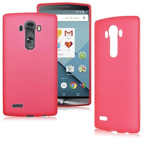 Case 4U LG G4 Stylus Soft Silikon Kılıf Kırmızı