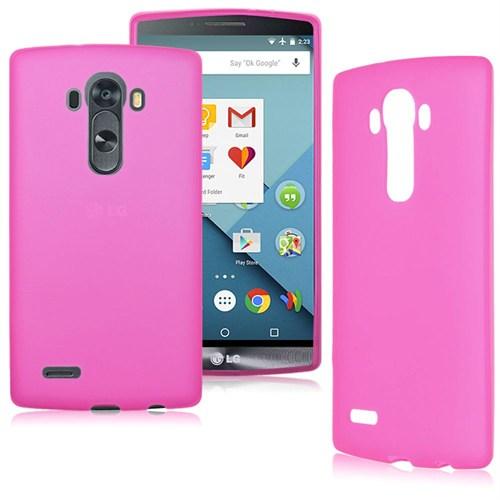 Case 4U LG G4 Stylus Soft Silikon Kılıf Pembe
