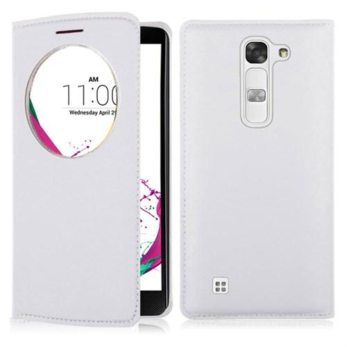 Case 4U LG G4C Flip Cover Beyaz