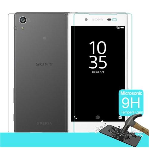 Microsonic Sony Xperia Z5 Temperli Cam Ekran Koruyucu Ön + Arka