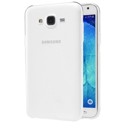 Microsonic Samsung Galaxy J2 Kılıf Transparent Soft Beyaz