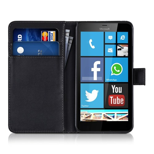 Microsonic Microsoft Lumia 640 Xl Kılıf Cüzdanlı Deri Siyah