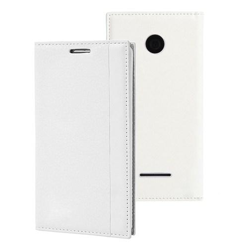 Microsonic Microsoft Lumia 532 Kılıf Gizli Mıknatıslı Delux Beyaz