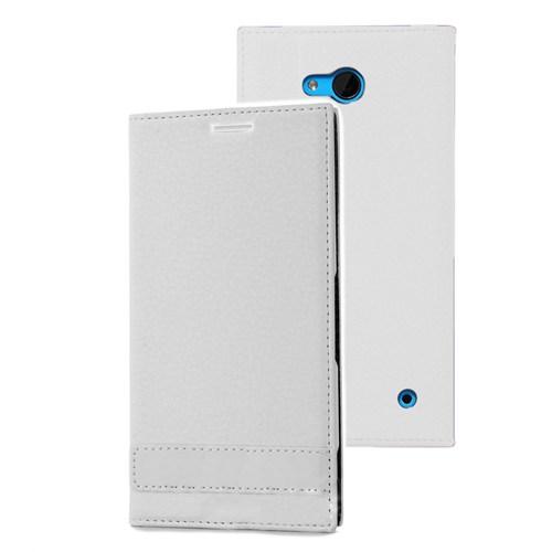 Microsonic Microsoft Lumia 640 Kılıf Gizli Mıknatıslı Delux Beyaz