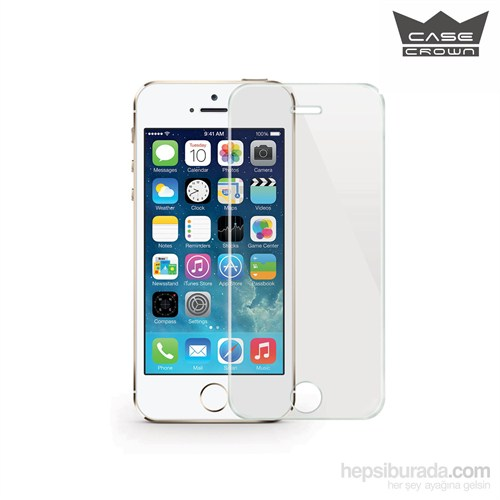 CaseCrown Apple iPhone 5 /5s Kırılmaz, Çizilmez Cam Ekran Koruyucu