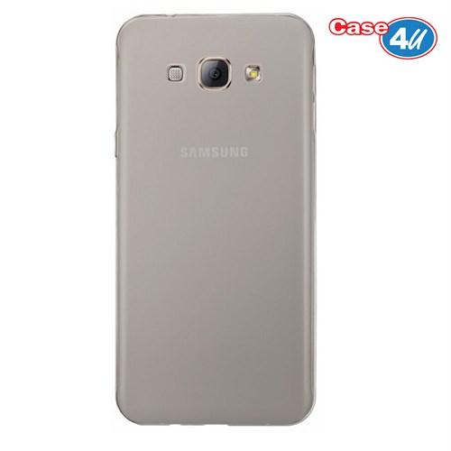 Case 4U Samsung Galaxy J7 Ultra İnce Silikon Kılıf Füme