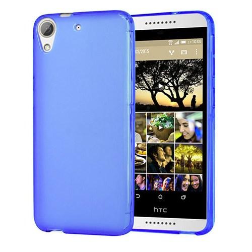 Case 4U HTC Desire 820 Soft Silikon Kılıf Mavi
