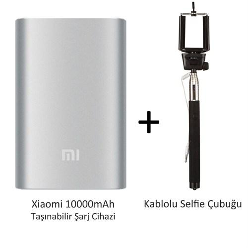 Xiaomi 10000 mAh Pilli Şarj Cihazı + Kablolu Selfie Çubuğu