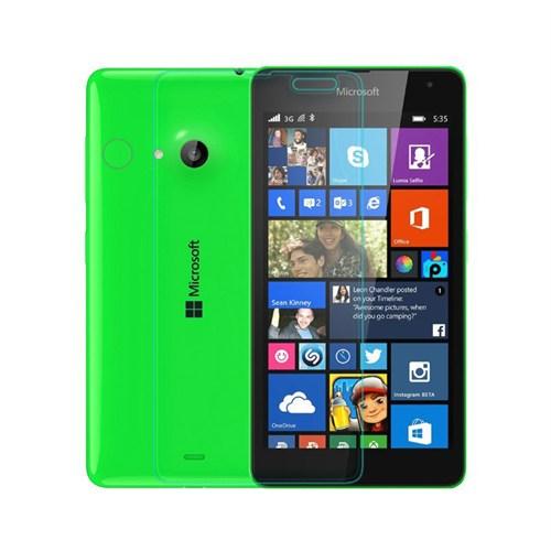Okmore Nokia Lumia 535 Kırılmaz Cam Ekran 0.33 2.5D