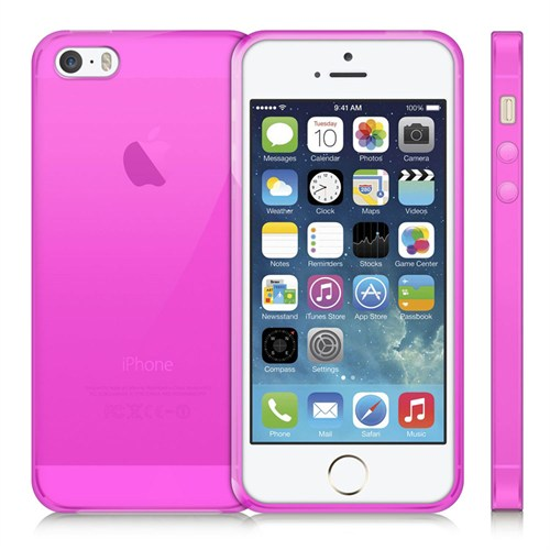 Case 4U Apple İphone 5 Ultra İnce Silikon Kılıf Pembe