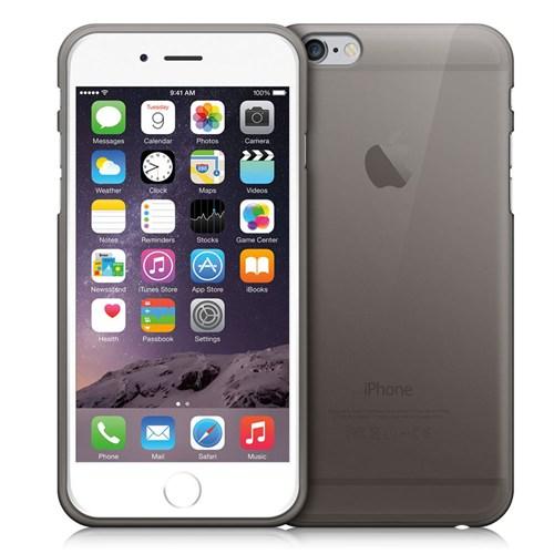 Case 4U Apple İphone 6 Plus Ultra İnce Silikon Kılıf Siyah