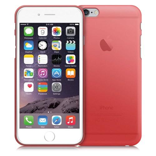 Case 4U Apple İphone 6 Plus Ultra İnce Silikon Kılıf Kırmızı