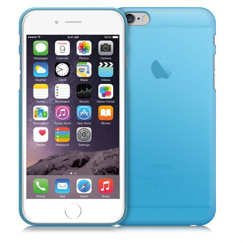 Case 4U Apple İphone 6 Plus Ultra İnce Silikon Kılıf Mavi