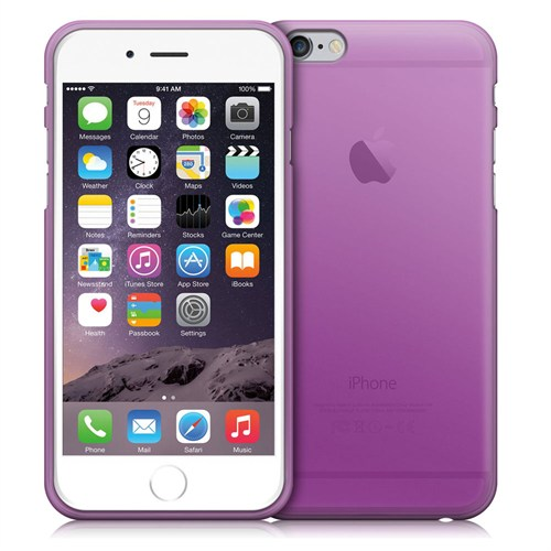 Case 4U Apple İphone 6 Plus Ultra İnce Silikon Kılıf Mor