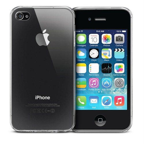 Case 4U Apple iPhone 4S Ultra İnce Silikon Kılıf Şeffaf