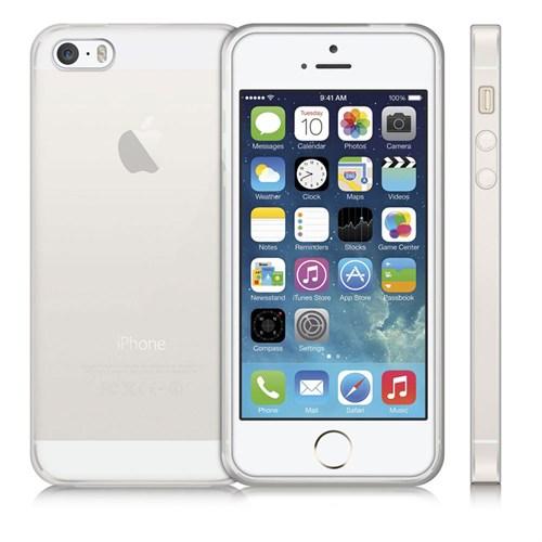 Case 4U Apple İphone 5 Ultra İnce Silikon Kılıf Şeffaf