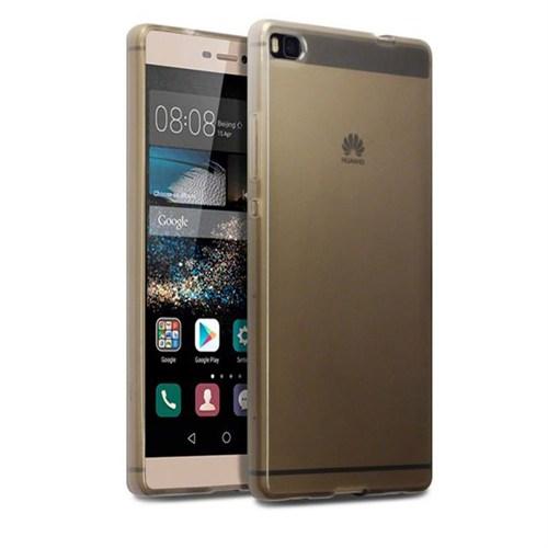 Case 4U Huawei P8 Ultra İnce Silikon Kılıf Füme