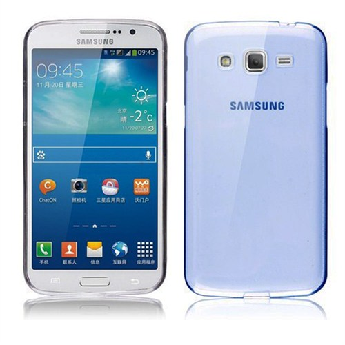 Case 4U Samsung G7100 Galaxy Grand 2 Ultra İnce Silikon Kılıf Mavi