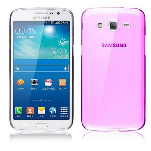 Case 4U Samsung G7100 Galaxy Grand 2 Ultra İnce Silikon Kılıf Pembe
