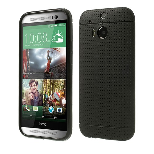 Case 4U Htc One M8 Dot Style Silikon Kılıf Siyah