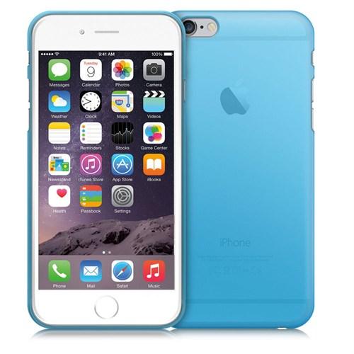 Case 4U Apple İphone 6S Ultra İnce Silikon Kılıf Mavi