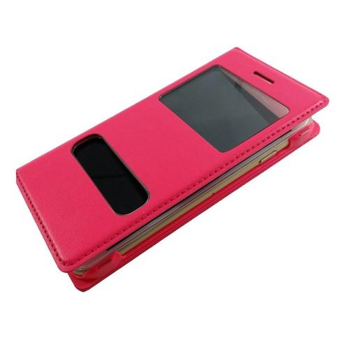 Case 4U Apple İphone 6S Pencereli Kapaklı Kılıf Pembe