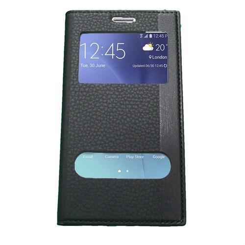 Case 4U Samsung Galaxy J7 Gizli Mıknatıslı Kapaklı Kılıf Siyah