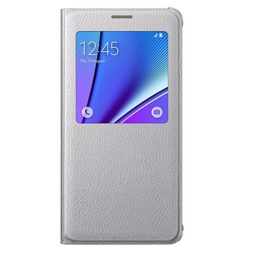 Samsung Galaxy Note 5 S-View Kapaklı Kılıf Gri - EF-CN920PSEGTTR