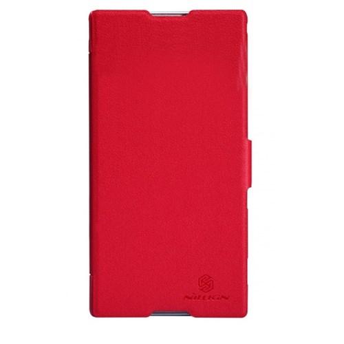 Nillkin Sony Xperia T2 Ultra Kılıf Fresh Kapaklı Flip Cover Kırmızı