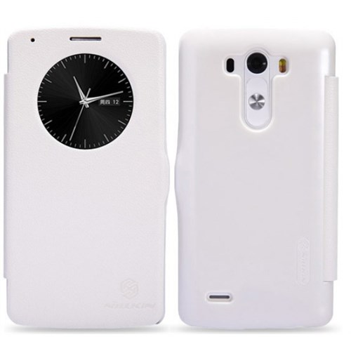 Nillkin Lg G3 Kılıf Fresh Kapaklı Flip Cover Beyaz