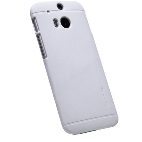 Nillkin Htc One M8 Kılıf Frosted Sert Kapak Beyaz