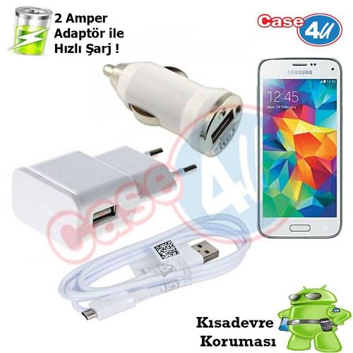 Case 4U Samsung Galaxy S5 3İn1 Ev Ve Araç Şarj Seti