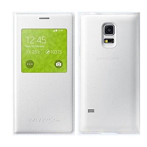 Kılıfshop Samsung Galaxy S5 Mini S View Cover Beyaz