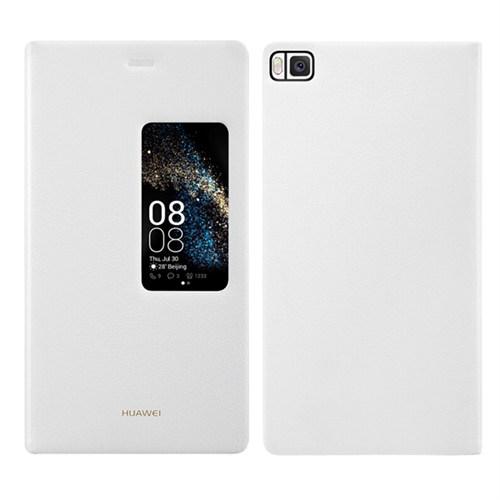 Kılıfshop Huawei P8 Smart Window View Kılıf Beyaz