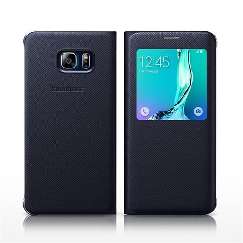 Kılıfshop Samsung Galaxy S6 Edge Plus S View Cover Lacivert