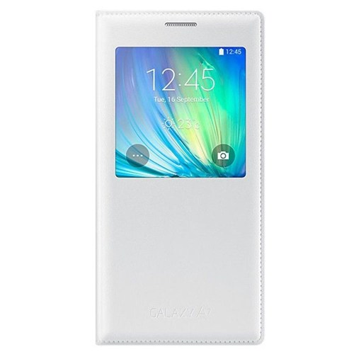 Kılıfshop Samsung Galaxy A7 S View Cover Beyaz