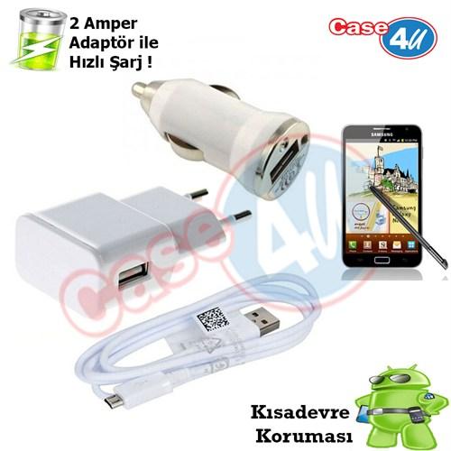 Case 4U Samsung Galaxy Note 3İn1 Ev Ve Araç Şarj Seti