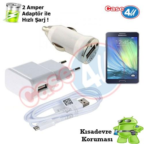 Case 4U Samsung Galaxy A7 3İn1 Ev Ve Araç Şarj Seti