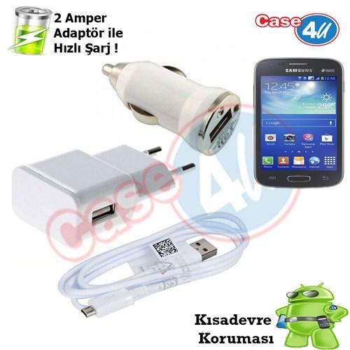 Case 4U Samsung Galaxy Ace 3 3İn1 Ev Ve Araç Şarj Seti