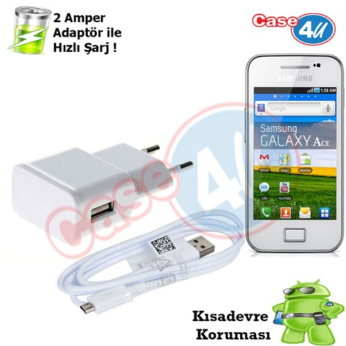 Case 4U Samsung Galaxy Ace S5830 Şarj Seti