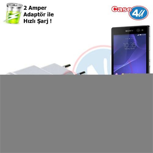 Case 4U Sony Xperia C3 Şarj Seti